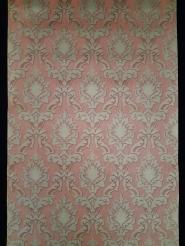 Papier peint vintage damassé bronze rouge