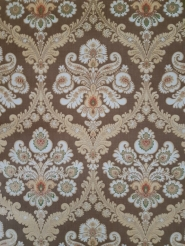 Brown and golden classic vintage wallpaper