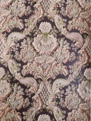 Big brown green damask vintage wallpaper