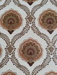 Papier peint vintage damassé brun or