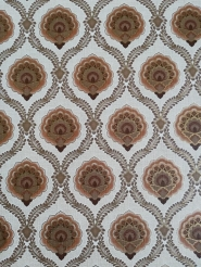 Small brown golden damask vintage wallpaper