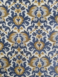 Blue brown damask vintage wallpaper