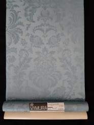 Papier peint vintage chateau bleu-gris
