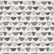 papier peint Miss Print Allsorts blanc et noir
