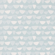 Miss Print behang Allsort blauw