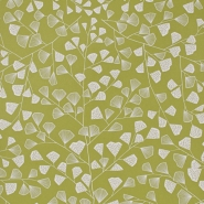 Miss Print wallpaper Fern green