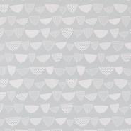 Miss Print behang Allsorts grijs