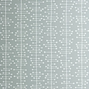 Miss Print wallpaper Muscat white on grey
