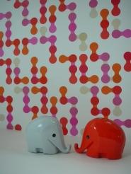 bulles rouge rose