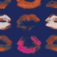 Luxebehang Neon kiss indigo