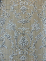classic beige grey damask
