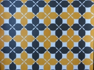 papier peint géometrique noir orange