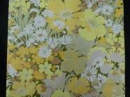 vintage floral wallpaper yellow green