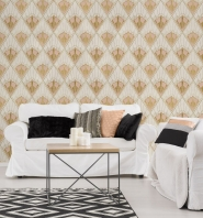 Revival wallpaper pink gold