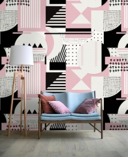 Luxebehang Simple things roze