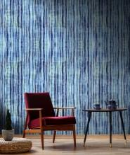 Premium wallpaper Tie Dye Aquamarine