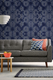 Premium wallpaper Washed Shibori Indigo