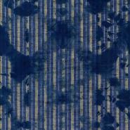 Luxebehang gewassen Shibori Indigo