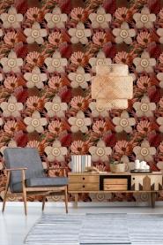 Premium wallpaper water lilies