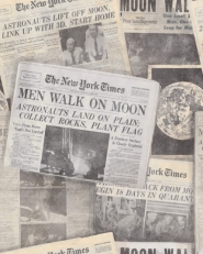 Newspaper moonwalker