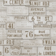 Straatnamen beige