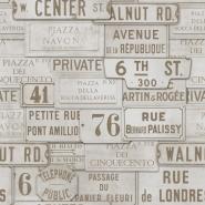 Noms des rues beige