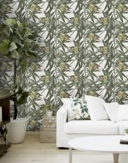 Tropische bloemen behangpapier