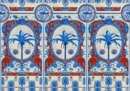 Papier peint de luxe The Villa mural rouge