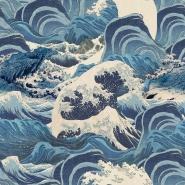Papier peint de luxe Sea Waves bleu