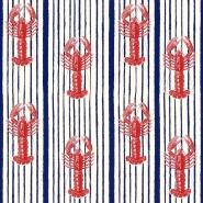 Papier peint de luxe Homards rouge sur un fond bleu
