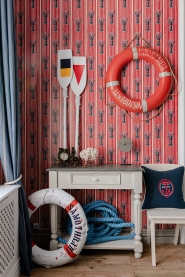 Papier peint de luxe Homards rouge