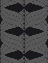 zilver figuur op een zwarte achtergrond