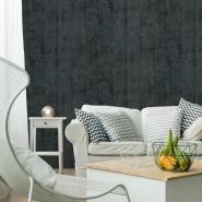 Papier peint planches de bois anthracite-gris