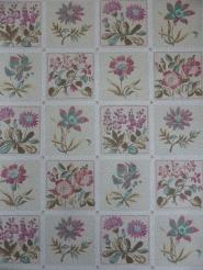 flowers in tiles