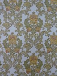 green yellow damask vintage wallpaper