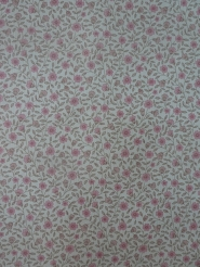 vintage behang fijne roze bloemetjes