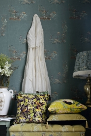 Premium wallpaper Chinoiserie blue