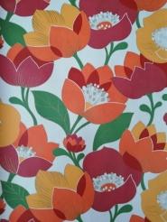 papier peint vintage grandes fleurs