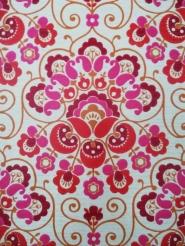 red pink damask vintage wallpaper