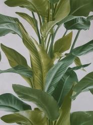Behang groene plant