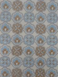 papier peint vintage figure géometrique bleu brun