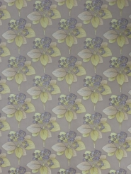 yellow purple floral wallpaper