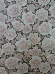 vintage brown pink floral wallpaper