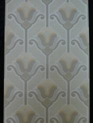 vintage bloemenbehang grijs