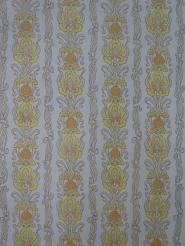 oranje geel medaillon vintage behang