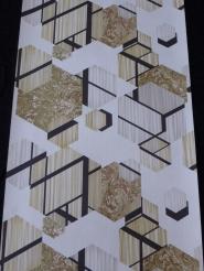grey beige hexagons with black lines