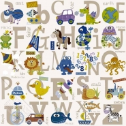 alphabet kids wallpaper