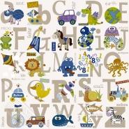 papier peint enfants alphabet