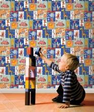 cirque papier peint enfant