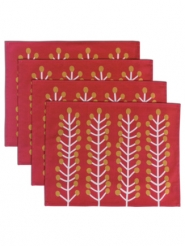 Herbs rouge set de table 4 pieces